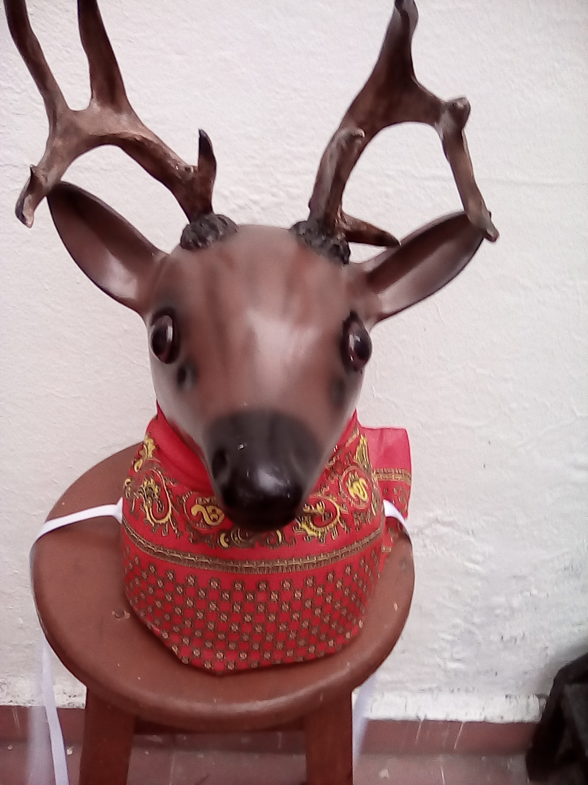 DEER HEAD GLASS FIBER FOR LA DANZA DEL VENADO